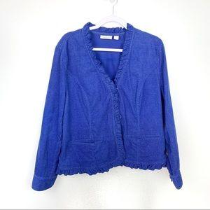 Chico's | Bright Blue Snake Print Blazer Jacket